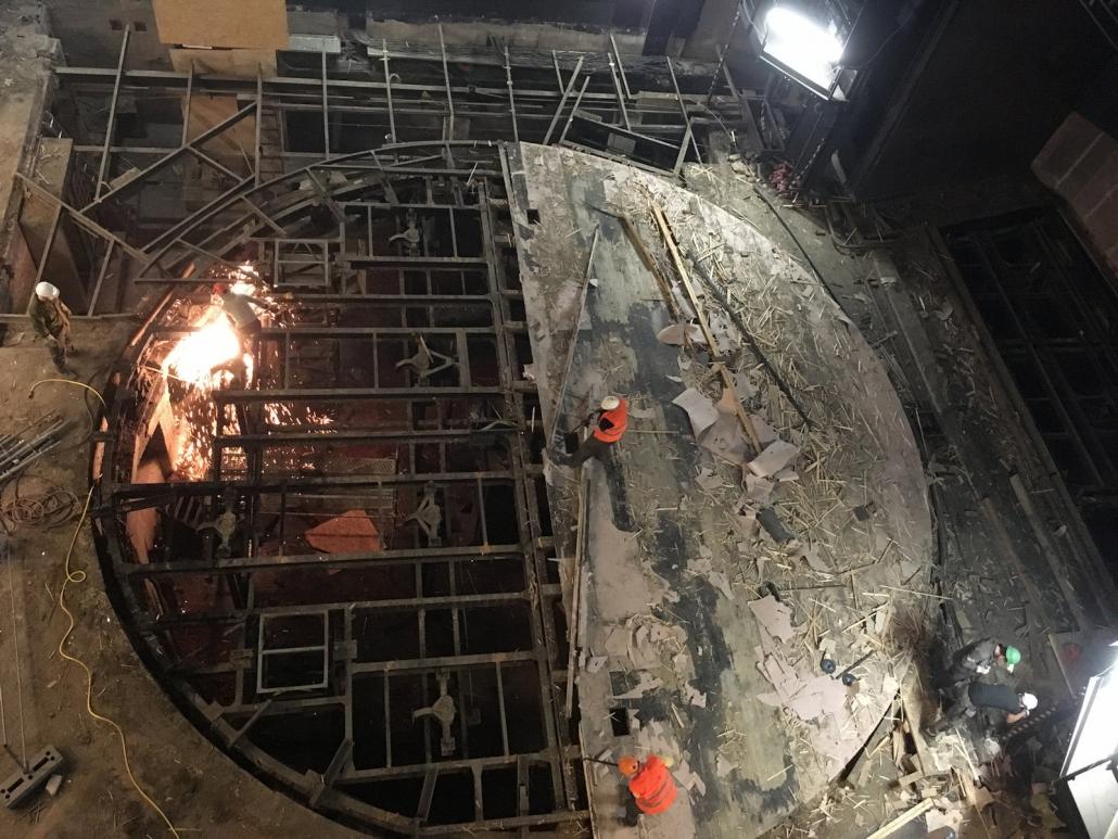 Vanemuise teatri pöördlava lammutus